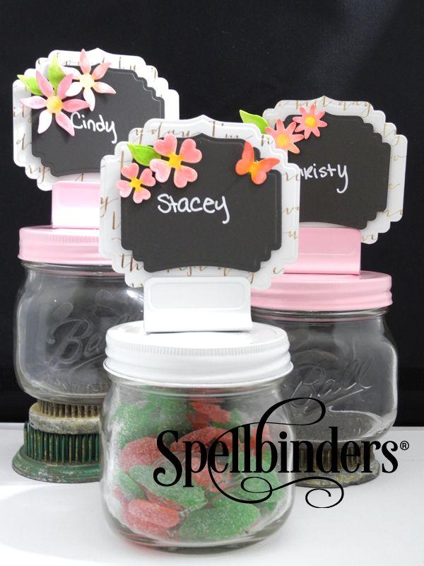 Chalkboard Wedding Place Cards   Spellbinders