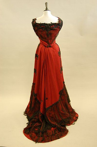 643ff2481f84 Edwardian silk faille ball gown with jet beading and lace detail by Hanover  Square [British