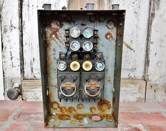 electrical fuse box steampunk decor industrial decor wall hanging rh pinterest com
