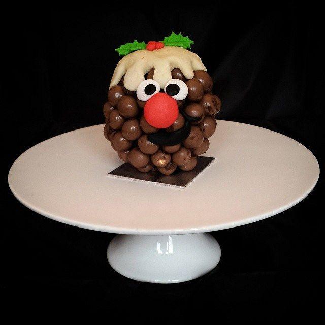 Novelty Xmas Pudding Treat Made With A Chocolate Orange