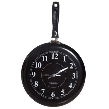 Relógio Parede Frigideira Preta