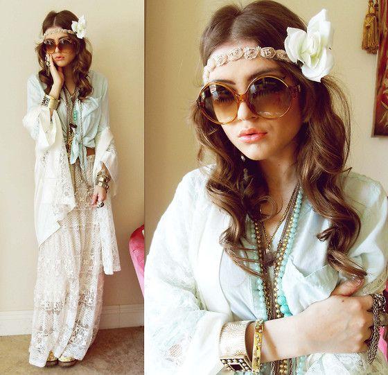 Koszula Mgielka Mietowa Mint Blogerska Romwe Blog 2201085567 Oficjalne Archiwum Allegro Fashion Hippie Look Style