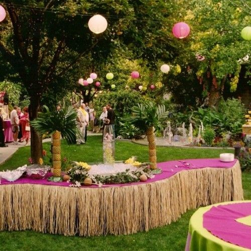 Caribbean party decorations ideas party table for Caribbean decor
