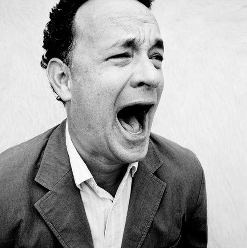 Tom Hanks: this picture pretty much embodies his personality perfectly...lol
