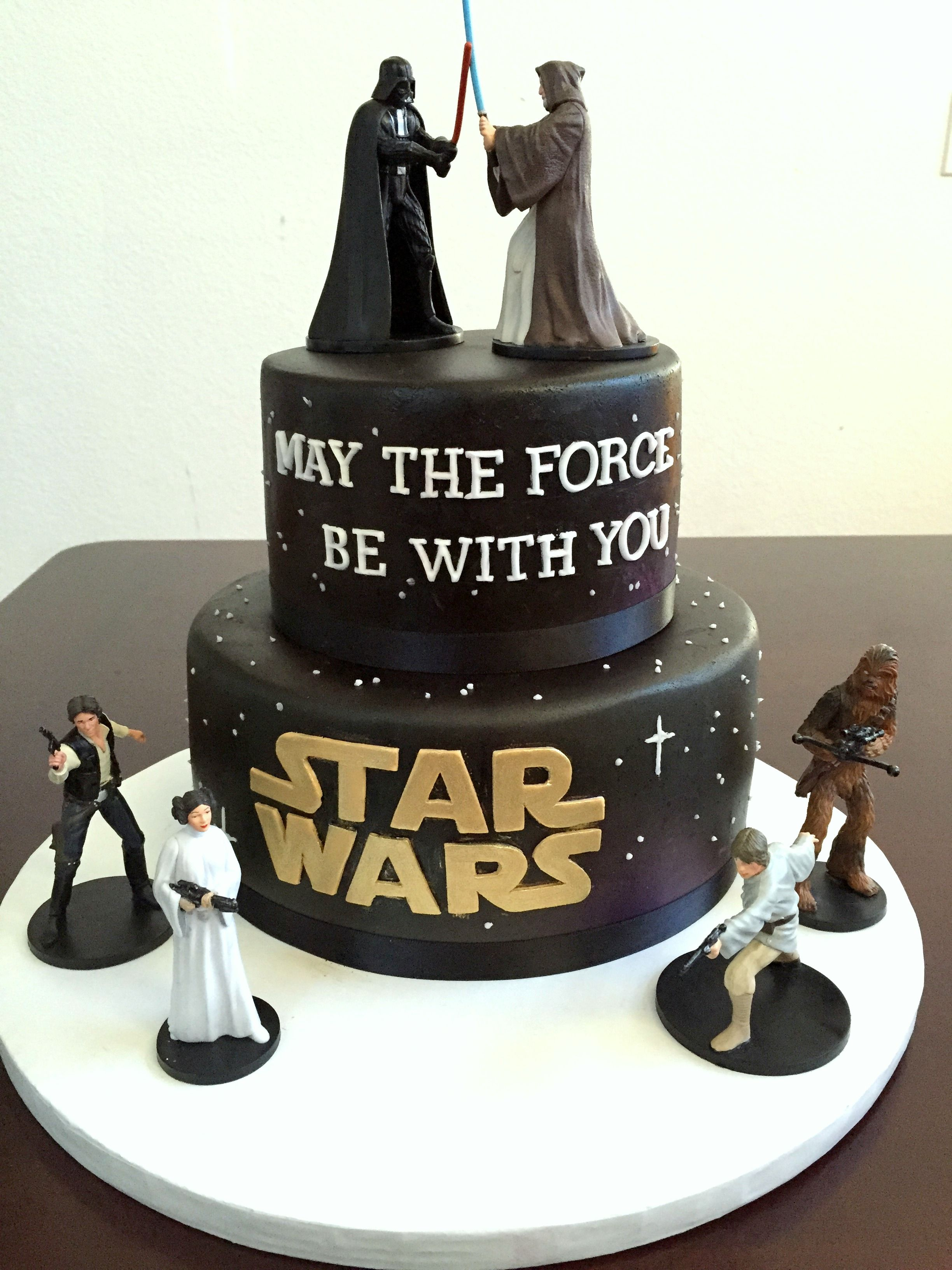 Astonishing Star Wars Cake Made With Cake Couture Fondant S Etsy Funny Birthday Cards Online Eattedamsfinfo