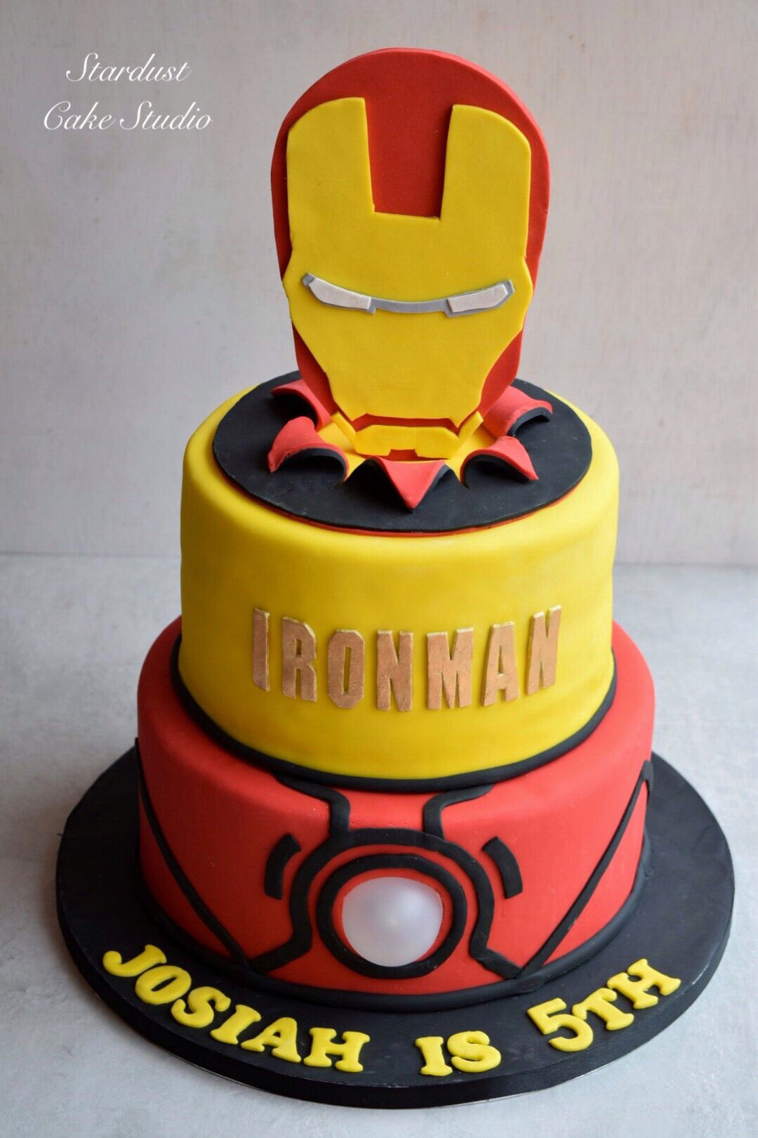 Pleasing Ironman Cake With Images Iron Man Birthday Ironman Cake Iron Birthday Cards Printable Trancafe Filternl
