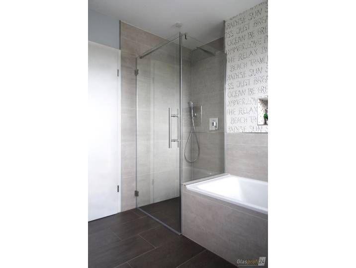 Dusche Neben Badewanne Aus Glas Mit Verkurzter Seitenwand Badezimmer Dusche Glaswand In 2020 Dusche Badewanne Wanne