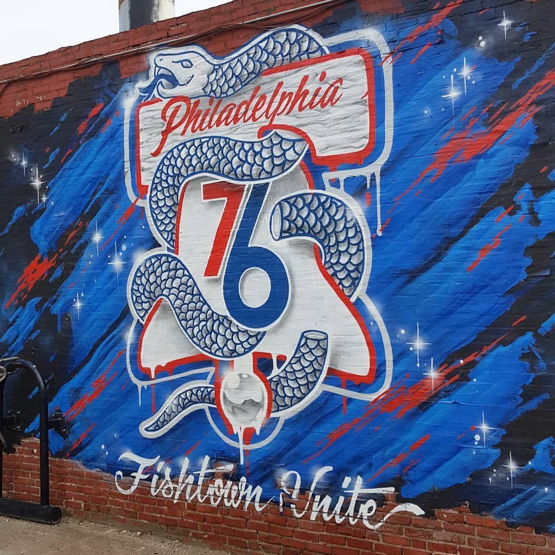 Freshy Sixers Street Art Heretheycome Philaunite Philadelphia Fishtownunite 76ers Basketball Ringthebell Basketball Artwork Art Design Art