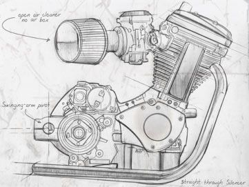 Motor Sketch - Mac Motorcycles are powered by the Buell® single ...
