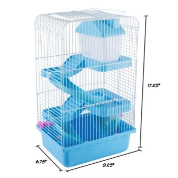 Hamster Cage Habitat By Petmaker Blue Hamster Cage Small Hamster Small Pets