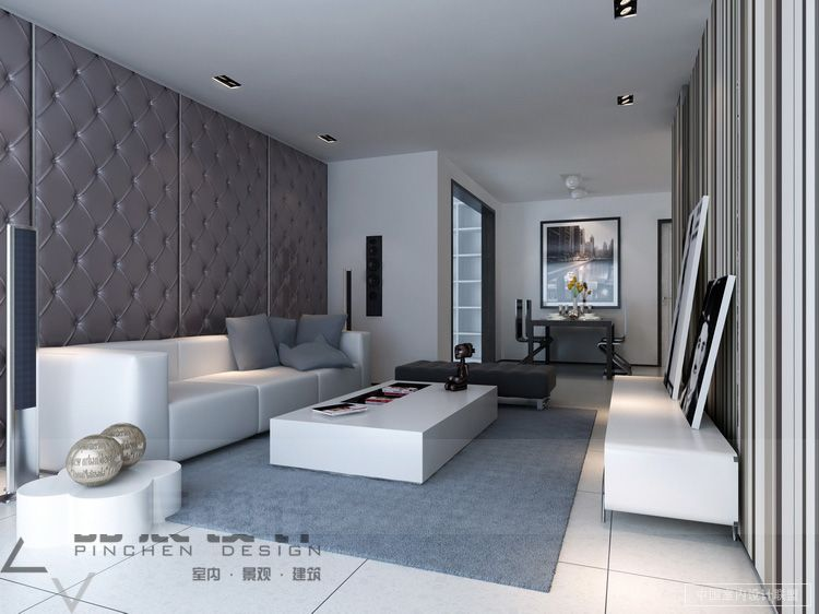 Living Room Contemporary Padded Feature Wall  Stunning Modern Mesmerizing Living Room Decoration Designs Decorating Design
