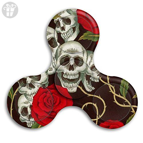 The Rose And Sugar Skull Fid Spinner Hand Toy Stress Reducer For