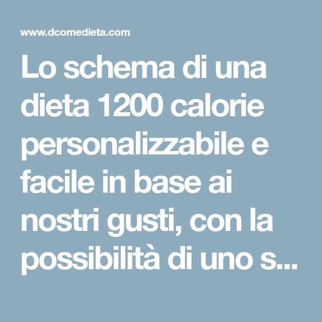Dieta ipocalorica estiva 1200 calorie