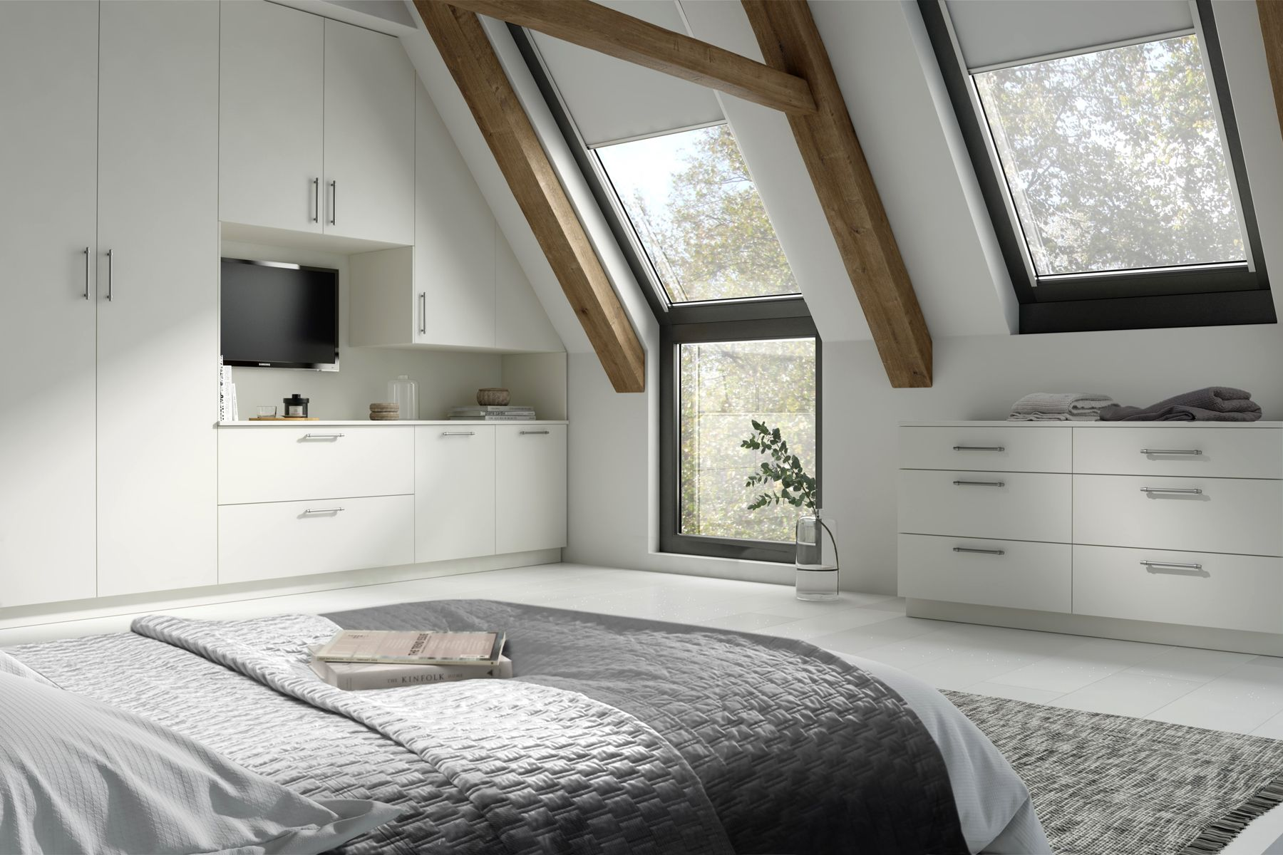 grey bed cover big white cupboard painted bedroom furniture white ...
