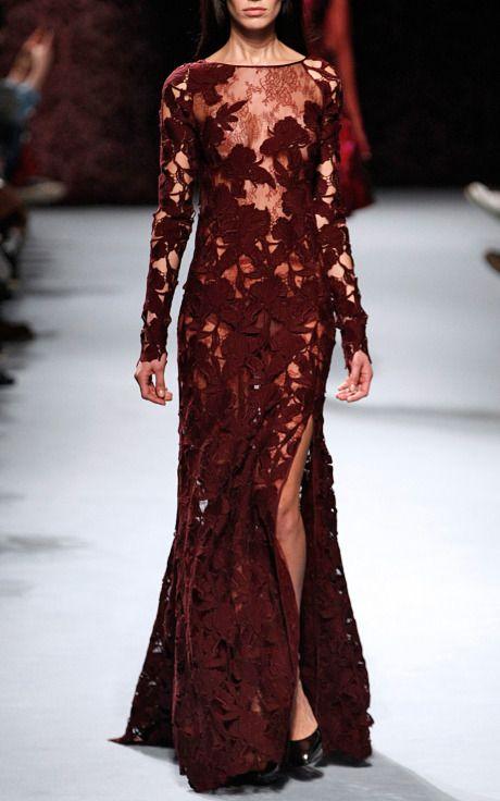 Macrame Gown by Nina Ricci for Preorder on Moda Operandi