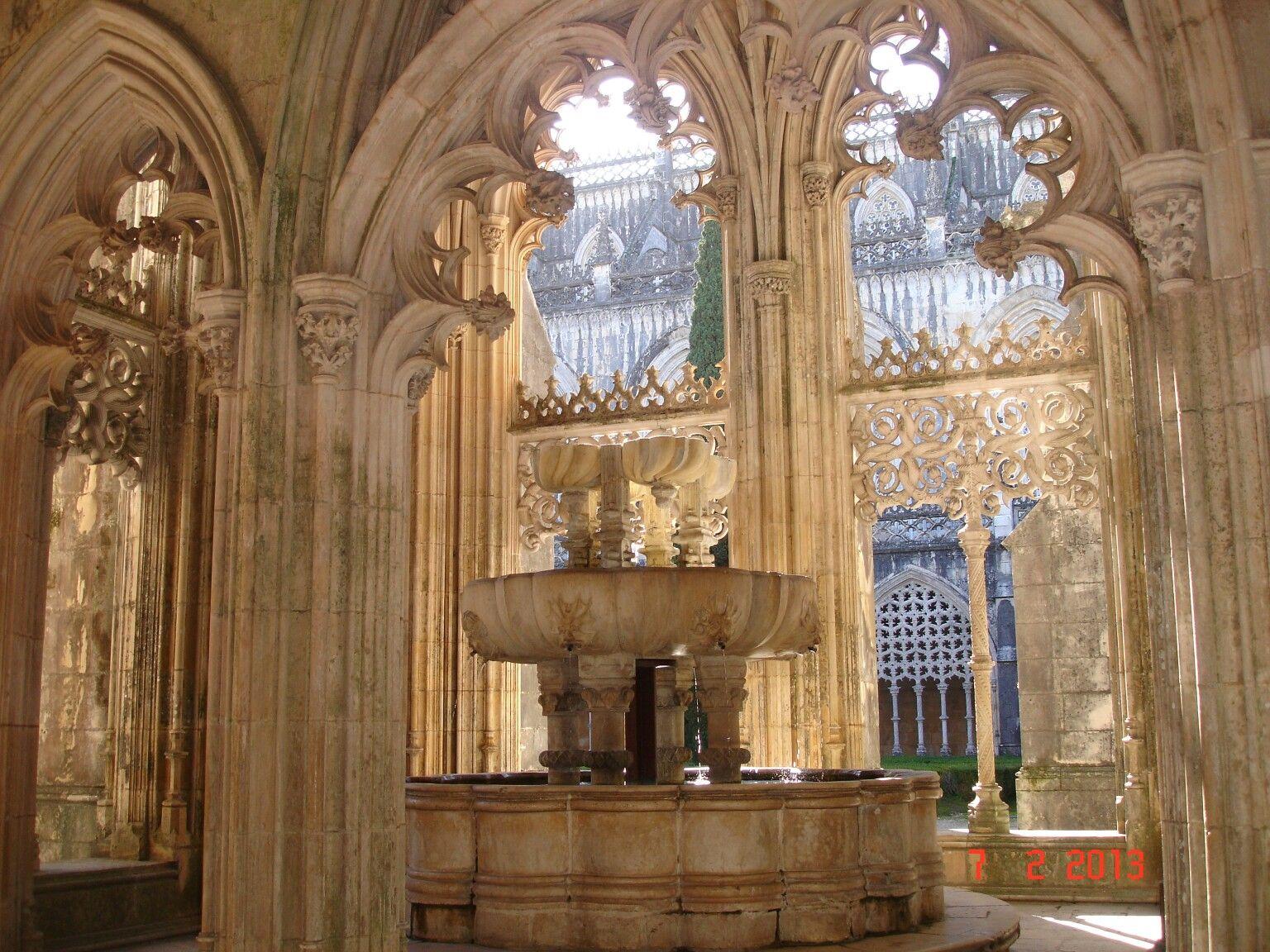A fonte no Mosteiro da Batalha em Portugal