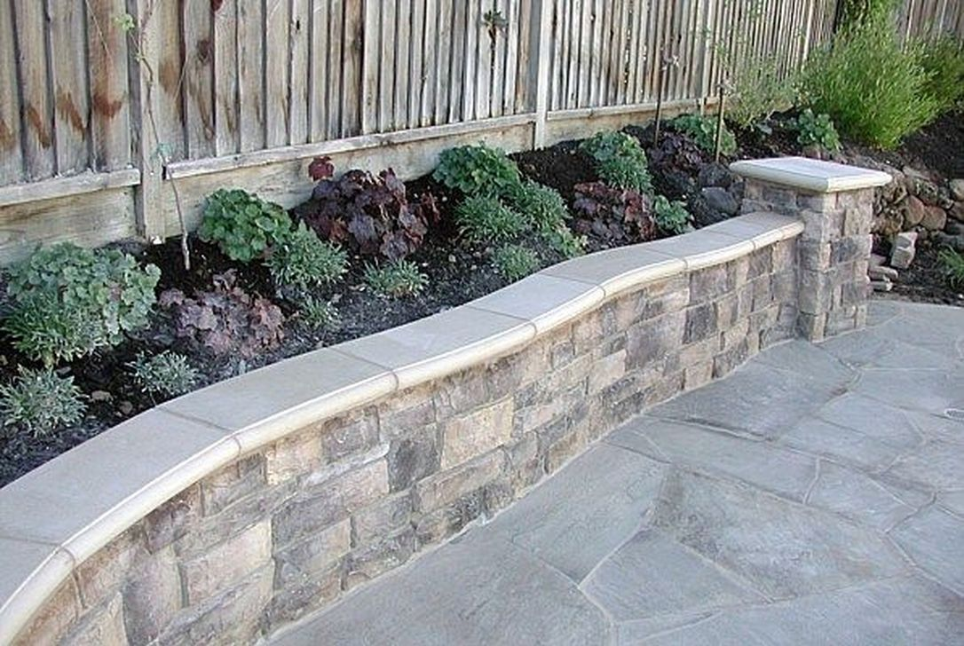 36 Rustic Wall Outdoor Concrete Ideas For Inspiration Pavers Backyard Landscaping Ideas Patio Wall Landscaping Retaining Walls
