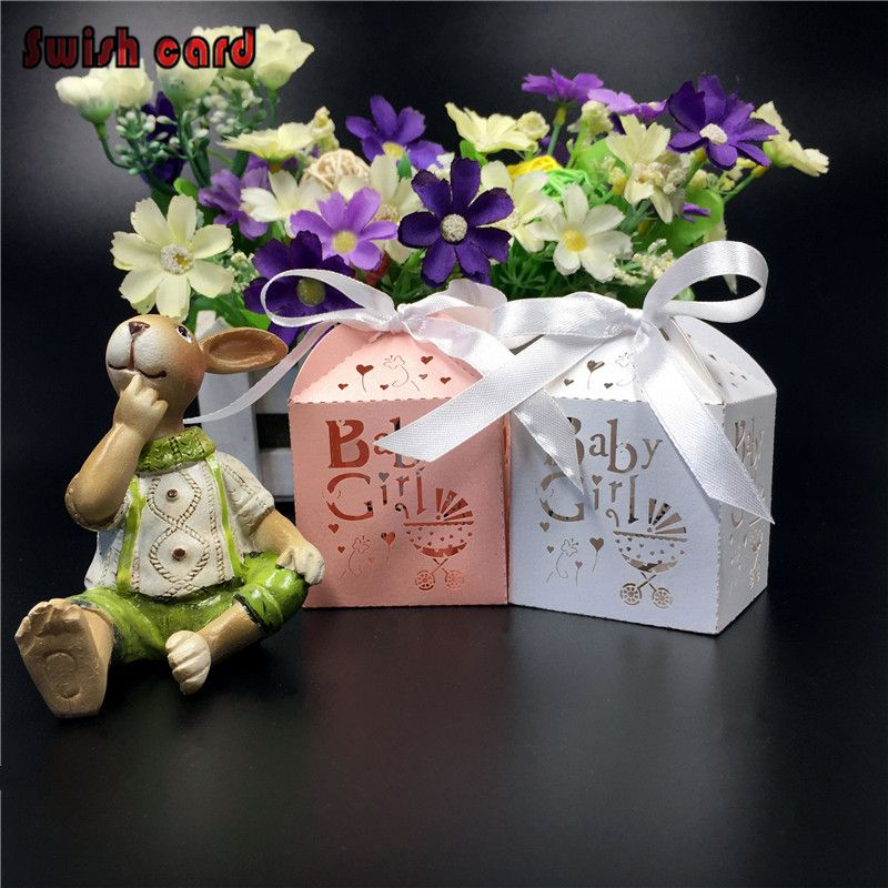 50pcs laser cut paper candysugar box baby shower gifts baby 50pcs laser cut paper candysugar box baby shower gifts baby stroller chocolate packaging personalized negle Image collections