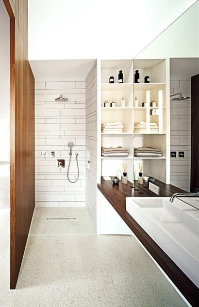 Badezimmer in Architektenhäusern Badezimmer als Raum im Raum