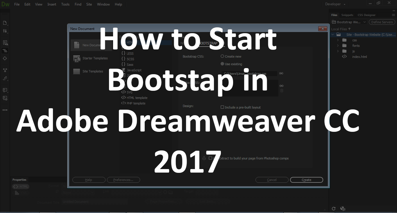 How to edit Starter Bootstrap Template in Adobe Dreamweaver Part - 2 ...