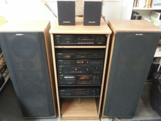 Pioneer Component Stereo System With Surround Sound