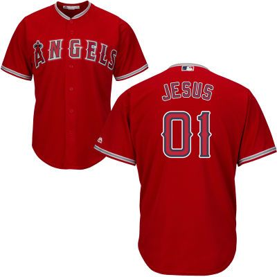Men s Los Angeles Angels of Anaheim Majestic Red Cool Base Custom Jersey 5ecf1988d