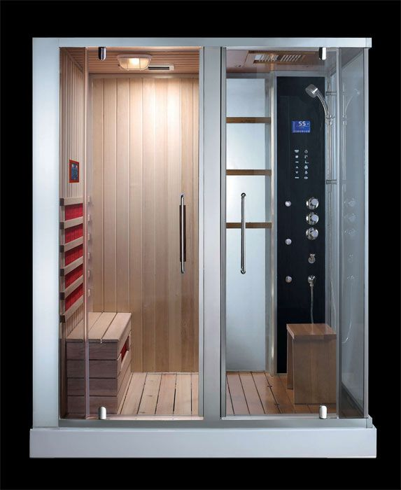 Ads 181 Steam Shower Sauna Combination Sauna Shower Sauna Steam Room Luxury Bathroom
