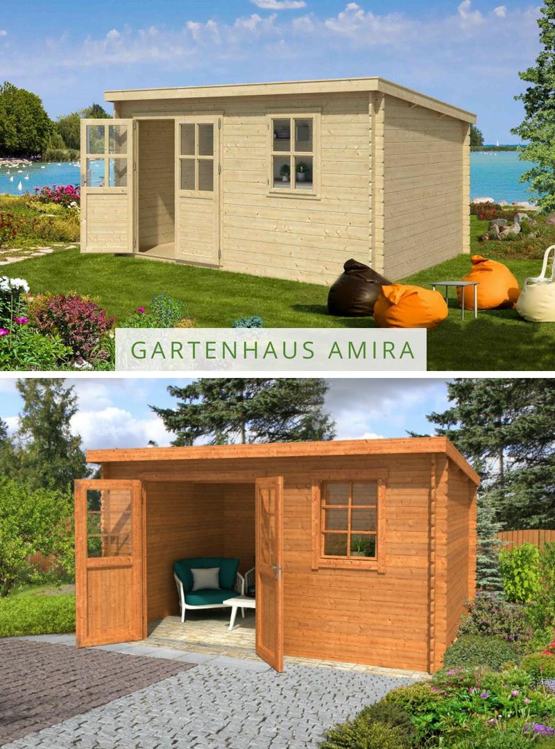 Lasita Maja Gartenhaus Amira 230 1002521 Gartenhaus