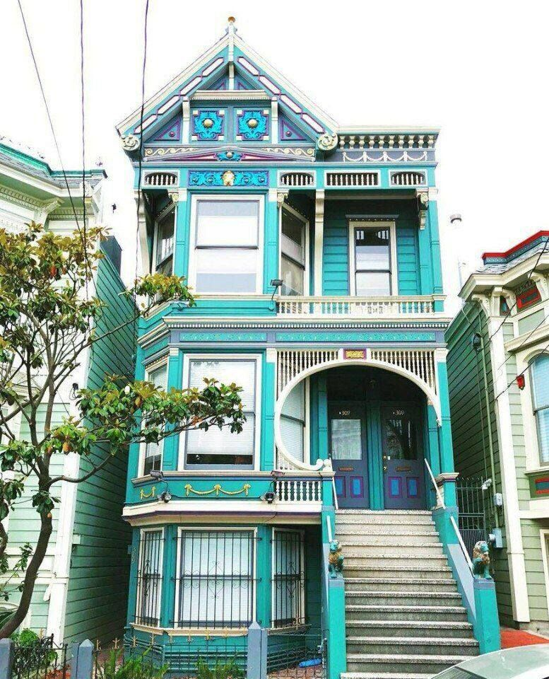 Colourful Houses Of San Francisco Exterior House Colors Painted