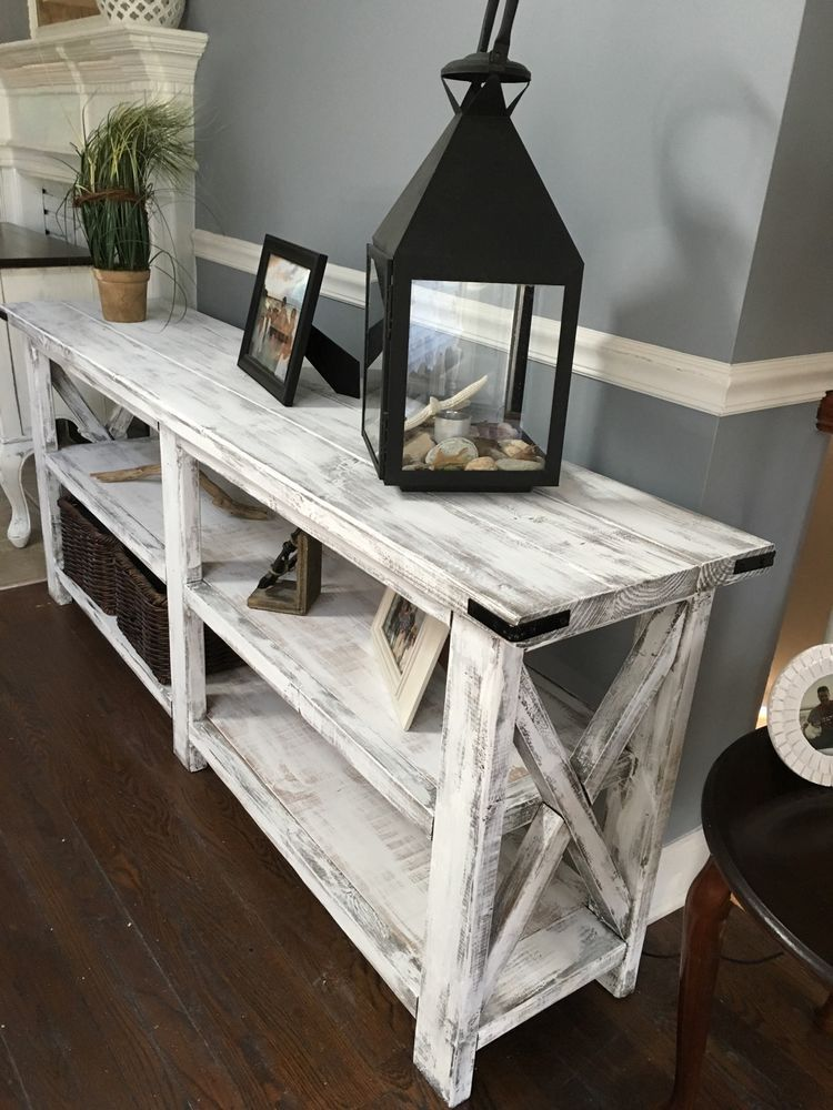 Rustic Farmhouse Console Table Foyer Entry Way Sturdy Handmade Local Delivery Home Decor Decor Cheap Home Decor