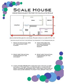 Scale House Equivalent Ratios With Images Equivalent Ratios