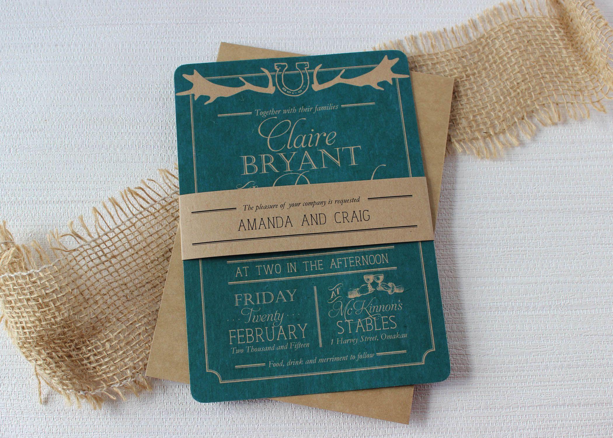 teal rustic wedding invitations - Google Search | Wedding ...