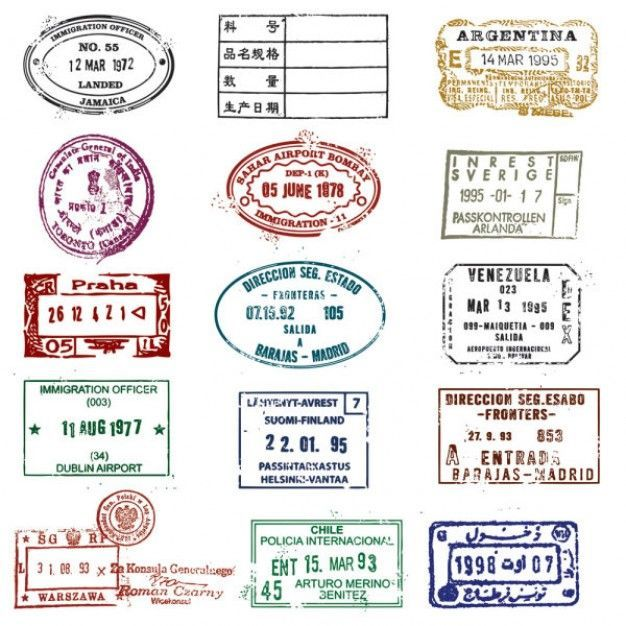 Passport stamp seal vector matasellos pinterest passport passport stamp seal vector invitation stopboris Image collections