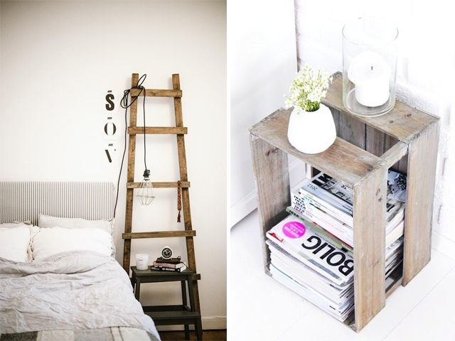 Ideas For Bedside Tables Part - 15: Love The Idea Of A Turned Crate As A Nightstand