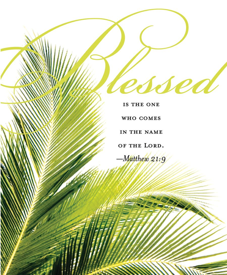 Palm Sunday ~†... all this week, I pray we will take time each ...