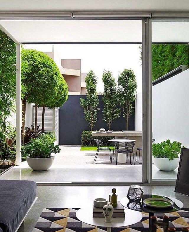 Patio Garden Ideas For Every Space: Outdoor Garden Minimal Elegant