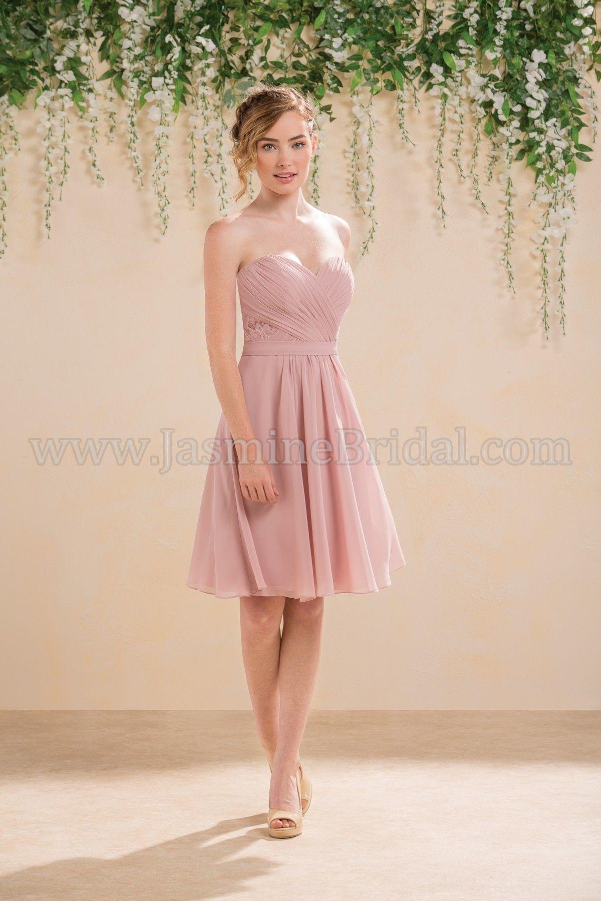 Jasmine Bridal Bridesmaid Dress B2 Style B183001 in Misty Pink ...