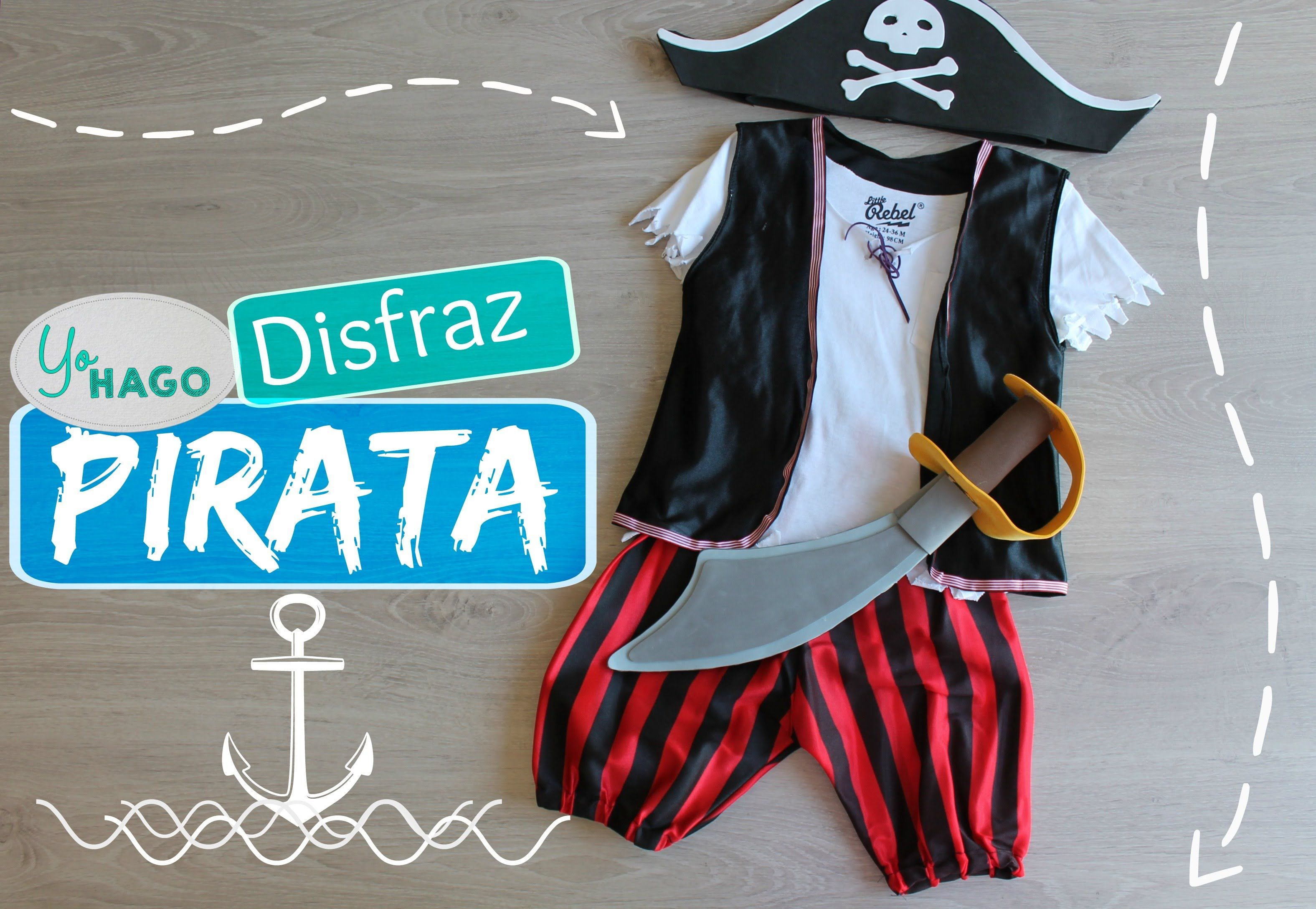 Haz un experimento paralelo Almeja maty disfraz pirata - 54o