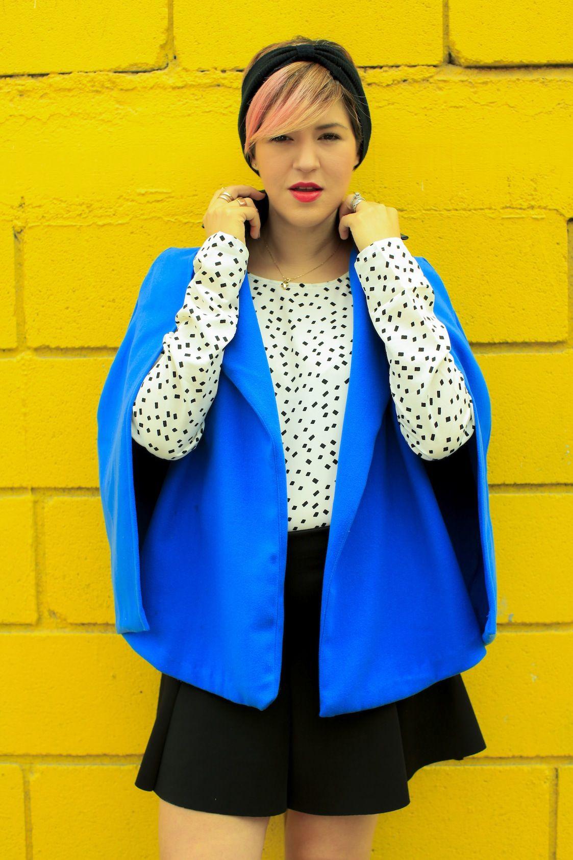 Color Spring 2014 - Mexican Fashion Blog Nancy Nannuck #yellow #blue #print