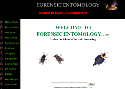 Provides an introduction to the science of forensic entomology for crime scene technicians