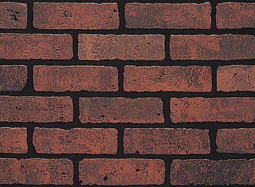 DPI Earth Stones 4u0027 x 8u0027 Gaslight II Red Brick Hardboard Wall Panel