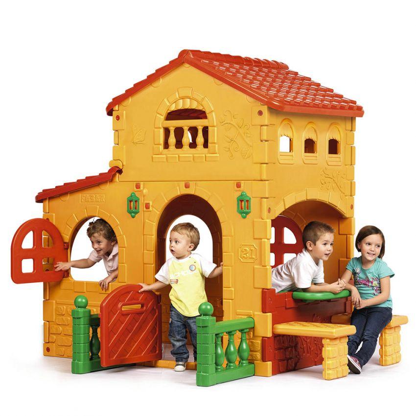 Plastic playhouse for children Grande Villa Feber