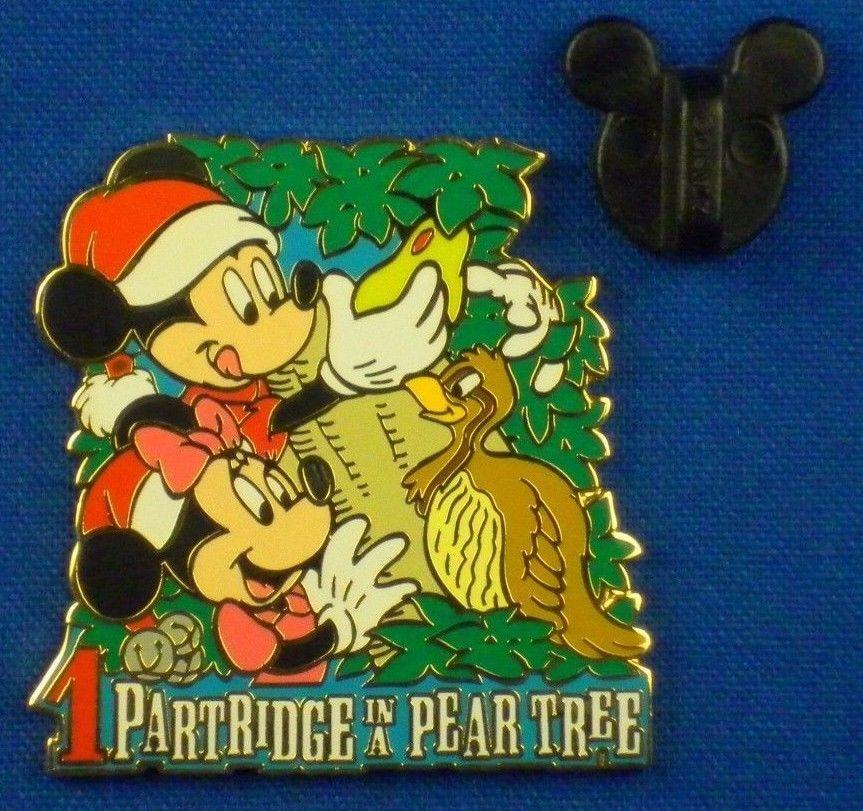 Disney 12 Days Of Christmas.Disney Pin Mickey Partridge Ina Pear Tree Le Twelve Days Of
