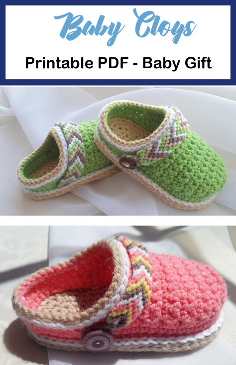 Baby Shoes Crochet Patterns – Baby Gift - A More Crafty Life #crochetbabyshoes