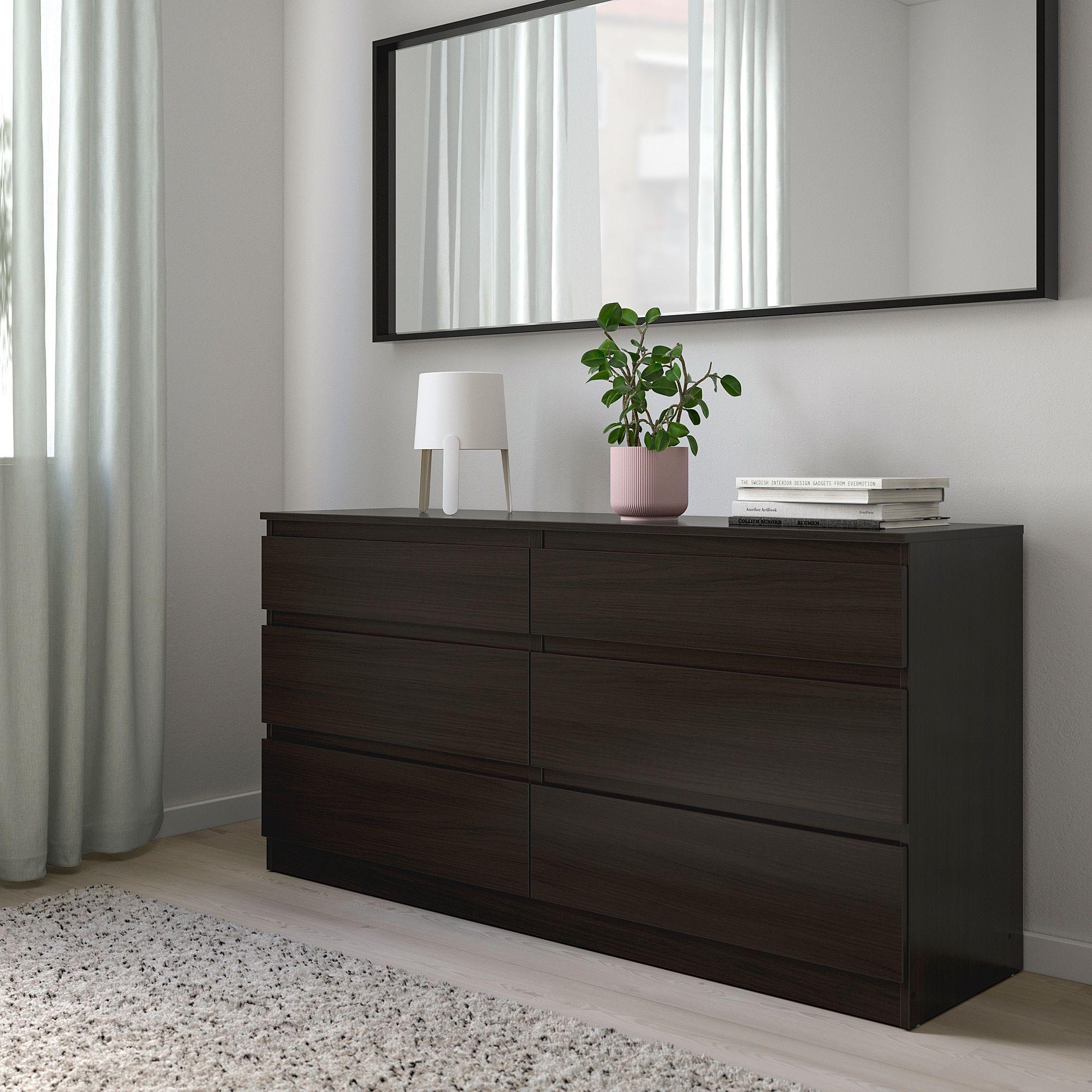 Ikea Kullen 6 Drawer Dresser Black Brown 6 Drawer Dresser