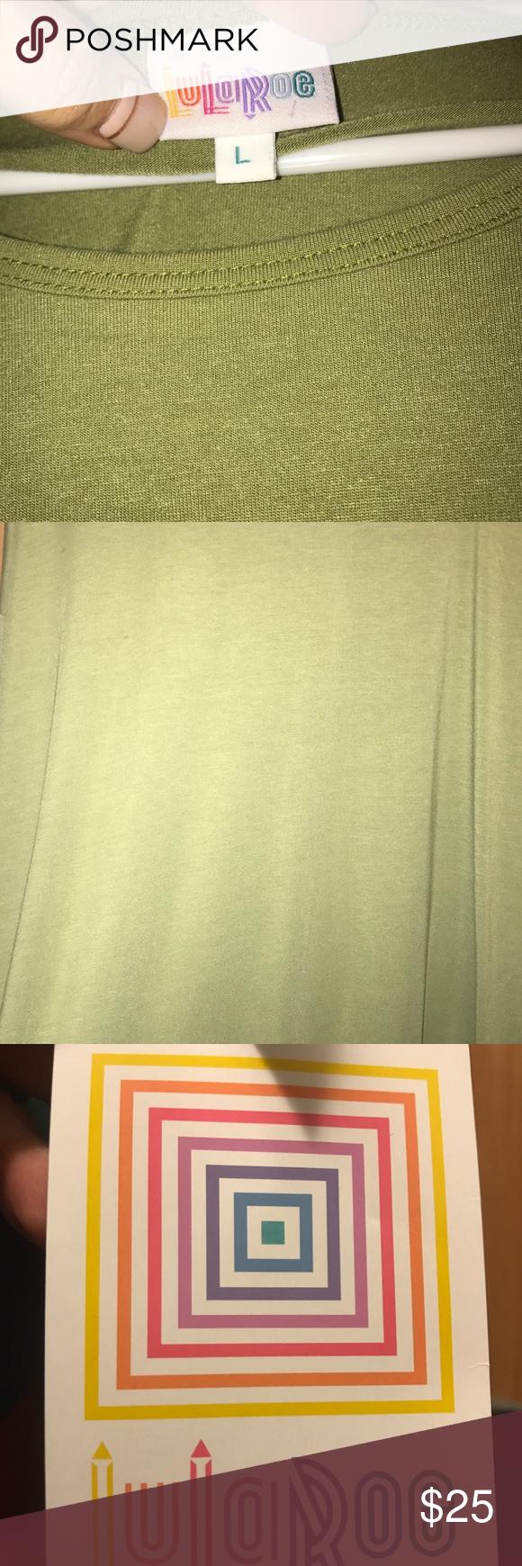 LuLaRoe Irma Top: Olive Green Large LuLaRoe Irma Top: Olive Green Large LuLaRoe Tops Tunics