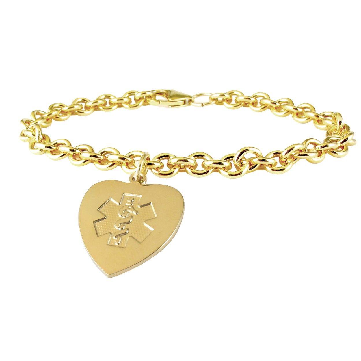 10k Gold Filled Heart Charm Bracelet Charm Bracelet Heart Charm Bracelet Gold Charm Bracelet