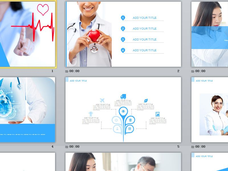 Blue Medical report PowerPoint template Premium PowerPoint