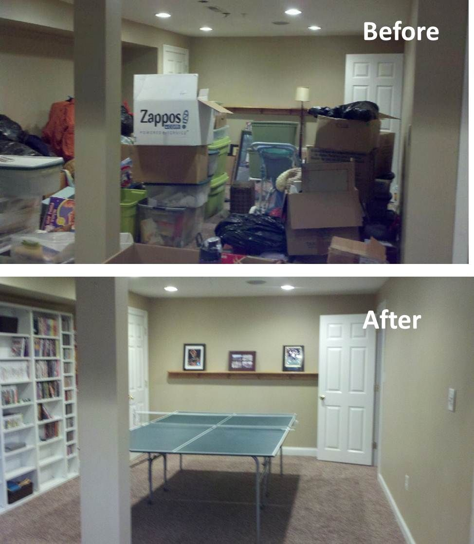 Finished Basement Organizing Project From So Squared Away