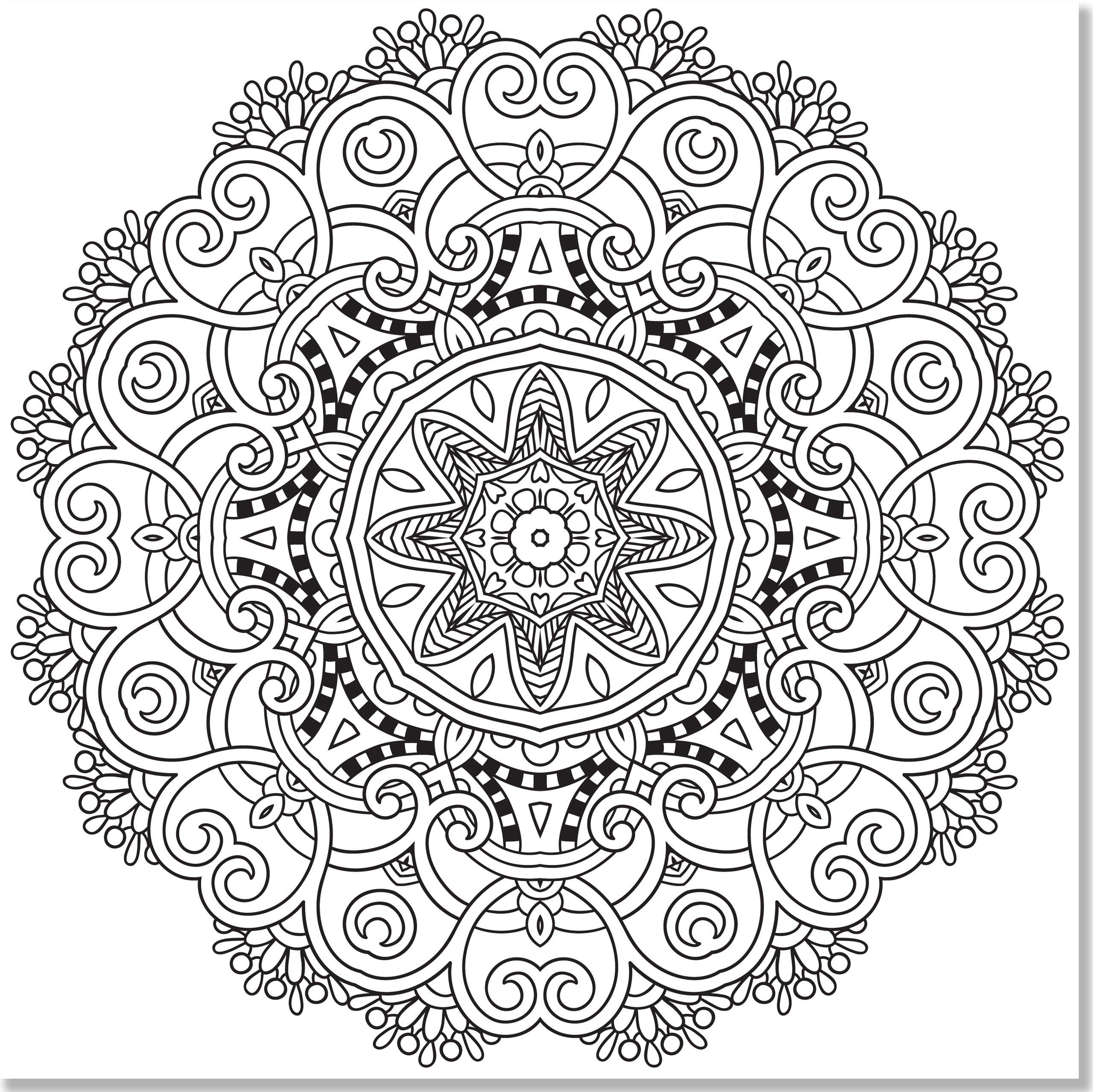Stress Relief Mandala Coloring Pages